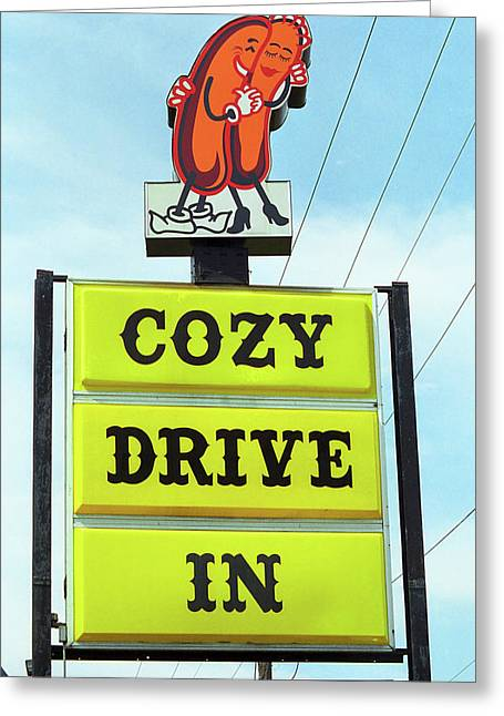 Route 66 - Cozy Dog Drive In Greeting Card by Frank Romeo
