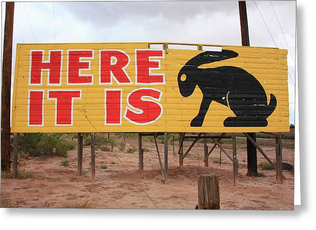 Route 66 - Jack Rabbit Trading Post Greeting Card by Frank Romeo