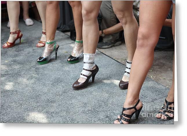 Running On Heels In Moscow Greeting Card by Tanya Polevaya
