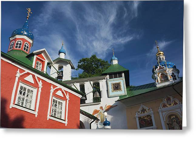 Russia, Pskovskaya Oblast, Pechory Greeting Card by Walter Bibikow