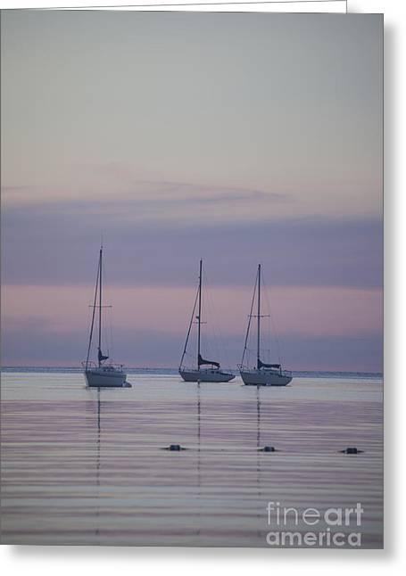 3 Sailboats Greeting Card