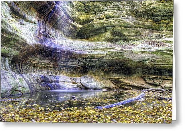 Saint Louis Canyon At Starved Rock Greeting Card by Twenty Two North Photography