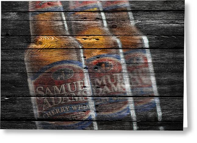 Samuel Adams Greeting Card by Joe Hamilton