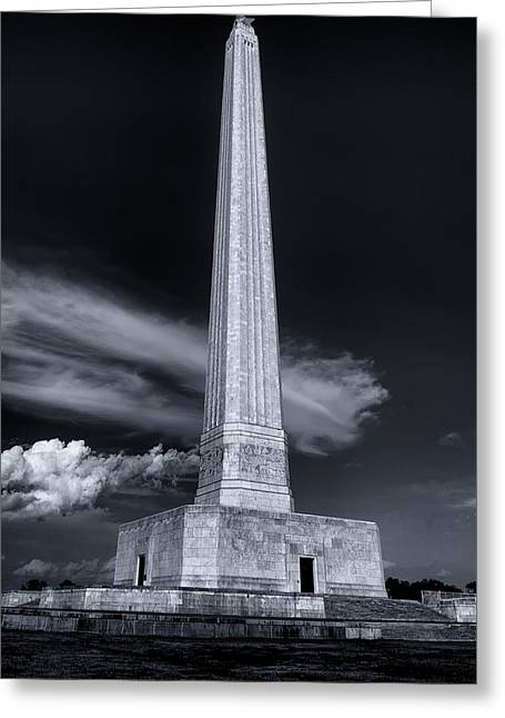 San Jacinto Monument One Sky One Star Greeting Card by Joshua House