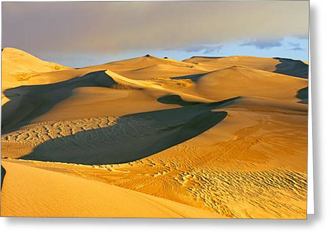 Sand Dunes In A Desert, Great Sand Greeting Card