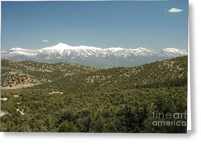 611p Schell Creek Range Nv Greeting Card