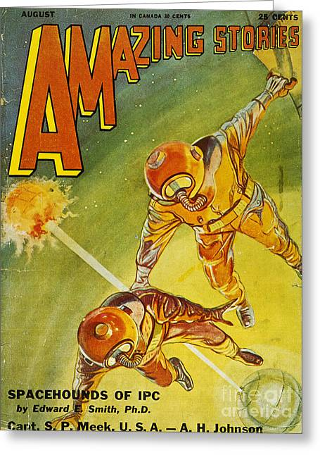 Sci-fi Magazine Cover 1931 Greeting Card by Granger
