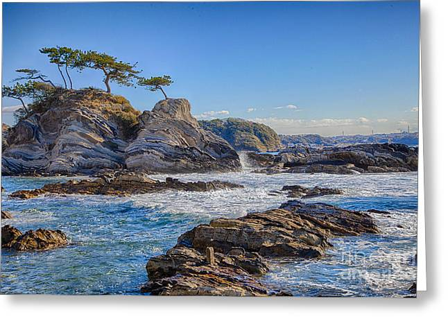 Sea Side Greeting Card by Tad Kanazaki
