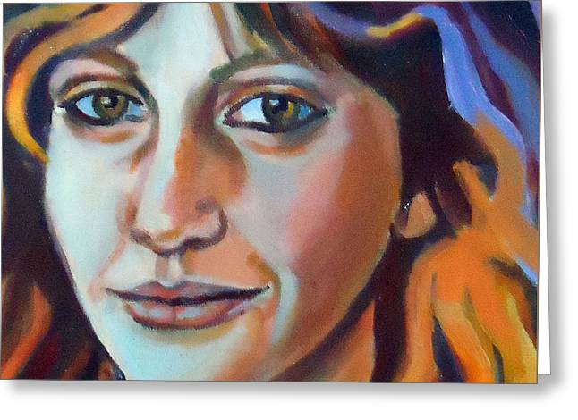 Greeting Card featuring the painting Self Portrait  by Helena Wierzbicki