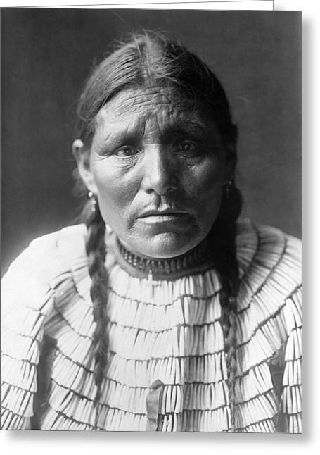 Sioux Woman, C1907 Greeting Card