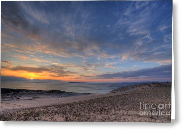 Sleeping Bear Dunes Sunset Greeting Card