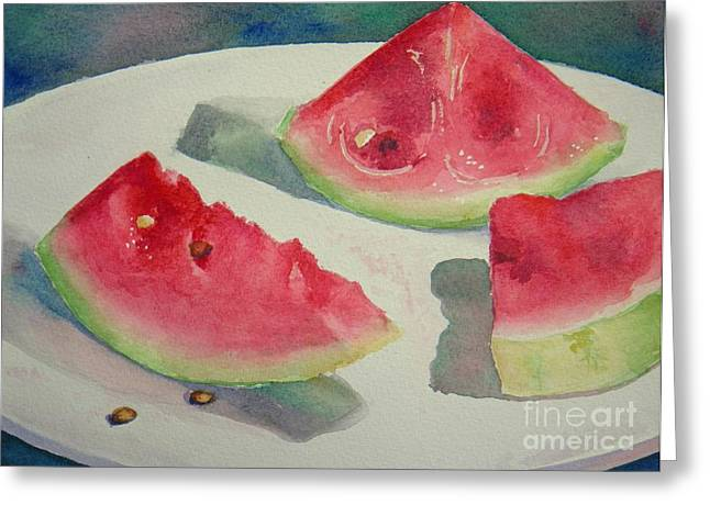 3 Slices Greeting Card by Lisa Pope