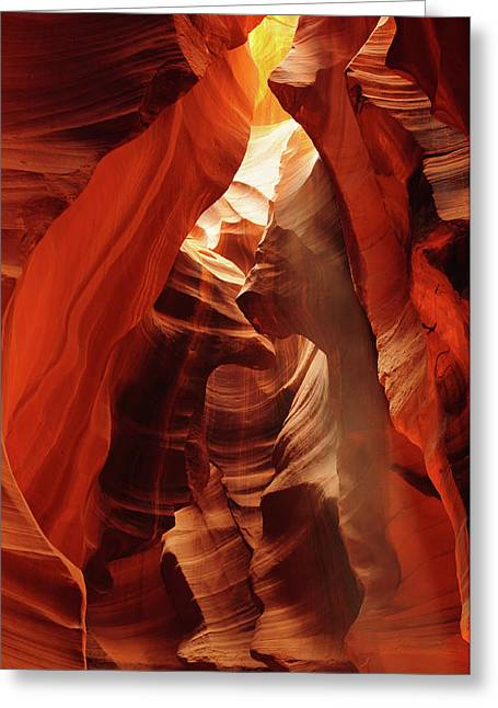 Slot Canyon, Upper Antelope Canyon Greeting Card by Michel Hersen