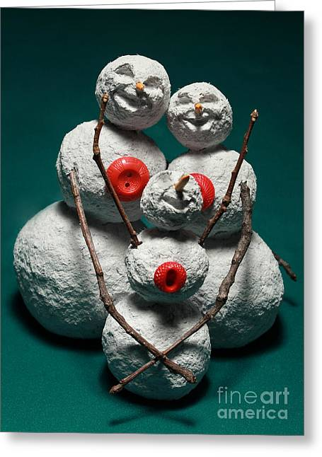 Snowman Family Christmas Card Greeting Card