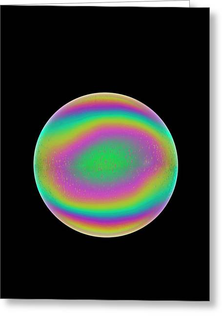 Soap Bubble Greeting Card by David Parker