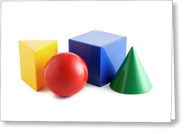 Solid Shapes Greeting Card by Science Photo Library