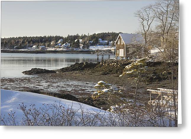 South Bristol On The Coast Of Maine Greeting Card by Keith Webber Jr