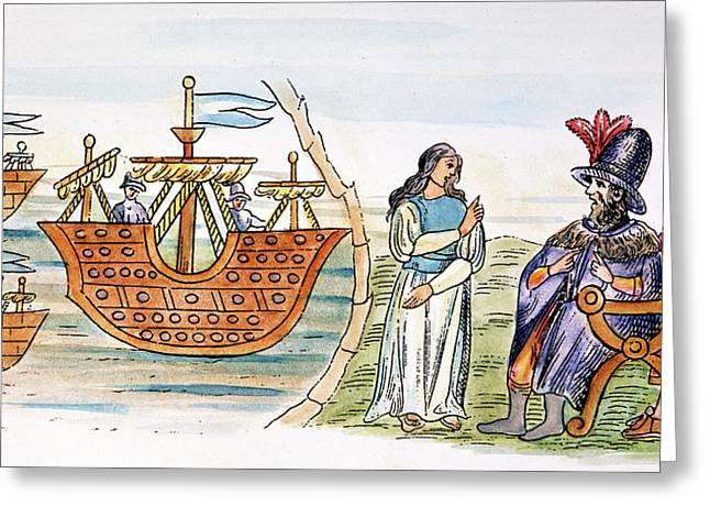Spanish Conquest Greeting Card