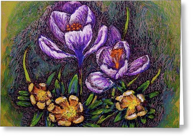 Spring Greeting Card by Linda Simon
