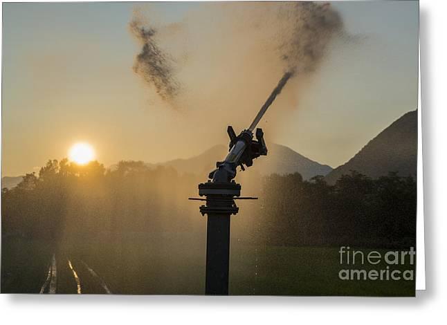 Sprinkler Irrigation Greeting Card by Mats Silvan
