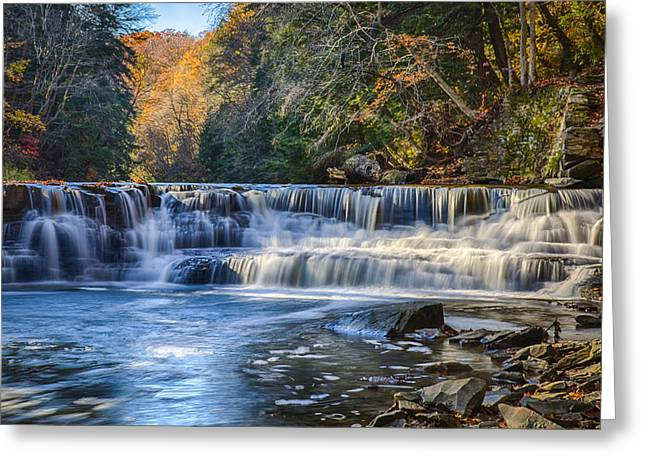 Squaw Rock - Chagrin River Falls Greeting Card