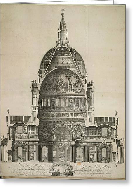 St. Paul's Cathedral Greeting Card by British Library