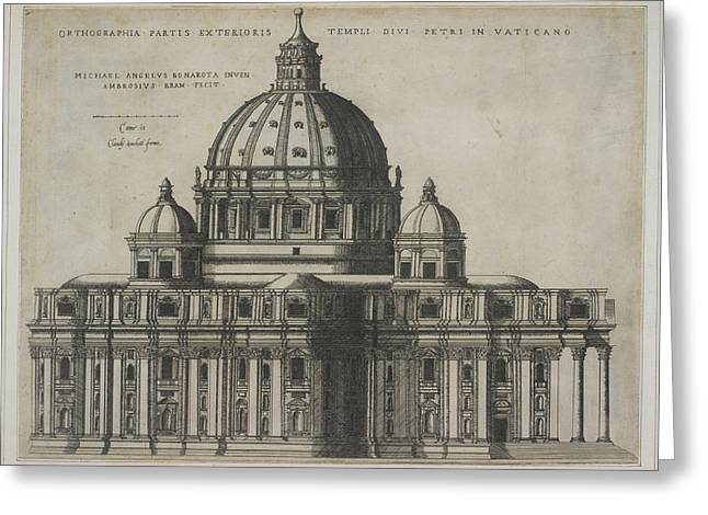 St. Peter's Basilica Greeting Card by British Library