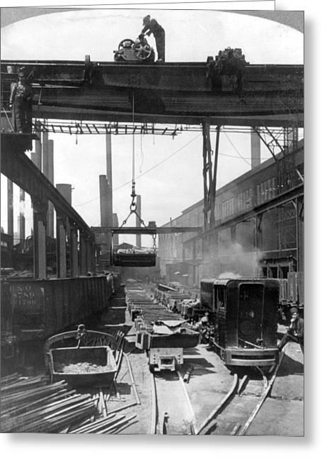 Steel Mill, C1905 Greeting Card