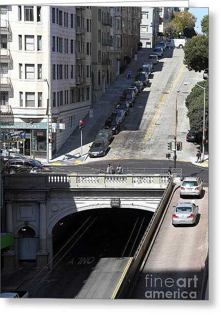 Stockton Street Tunnel In San Francisco Greeting Card
