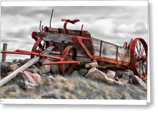 Stonewall Wagon Greeting Card by Richard Bean