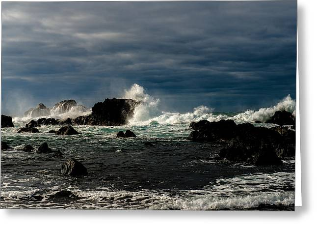 Stormy Seas And Skies  Greeting Card