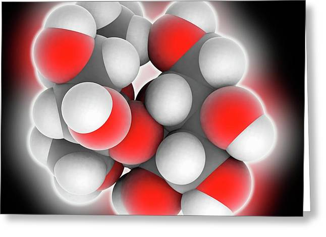 Sucrose Molecule Greeting Card by Laguna Design