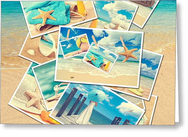 Summer Postcards Greeting Card