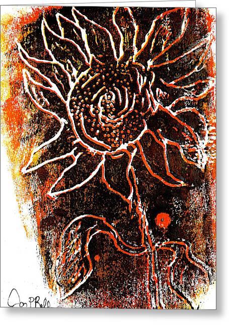Sunflower  Greeting Card by Jon Baldwin  Art