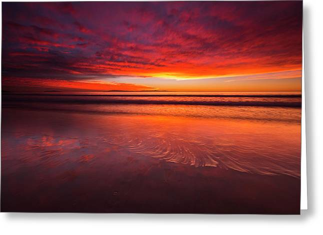 Sunset Over The Channel Islands Greeting Card