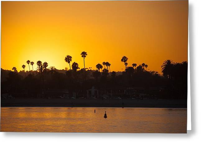 Sunset Santa Barbara Greeting Card by Ralf Kaiser