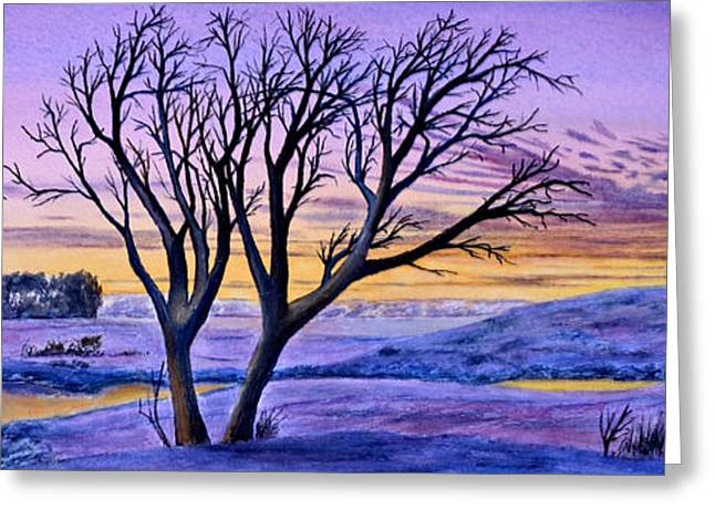 Greeting Card featuring the painting Sunset Sublime by Thomas Kuchenbecker