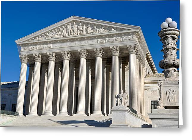 Supreme Court Of United States Greeting Card by Brandon Bourdages