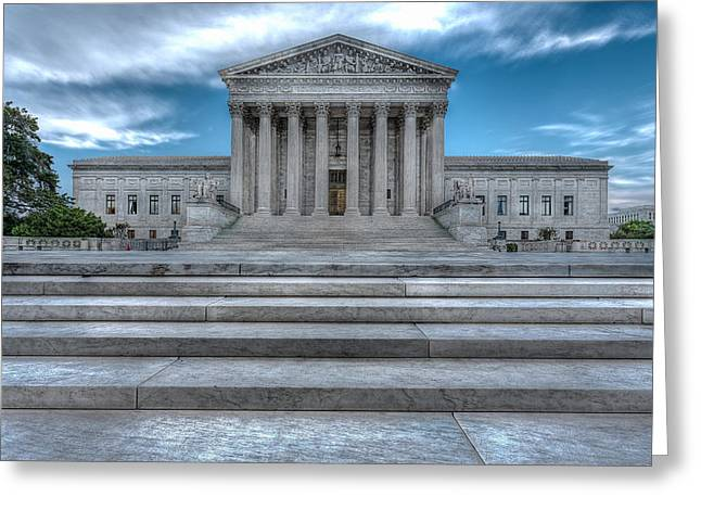 Greeting Card featuring the photograph Supreme Court by Peter Lakomy