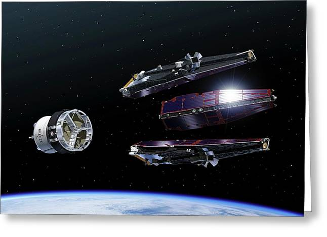 Swarm Satellites Greeting Card by P.carril/esa