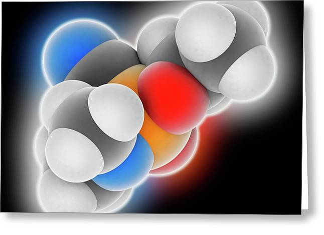 Tabun Nerve Agent Molecule Greeting Card by Laguna Design