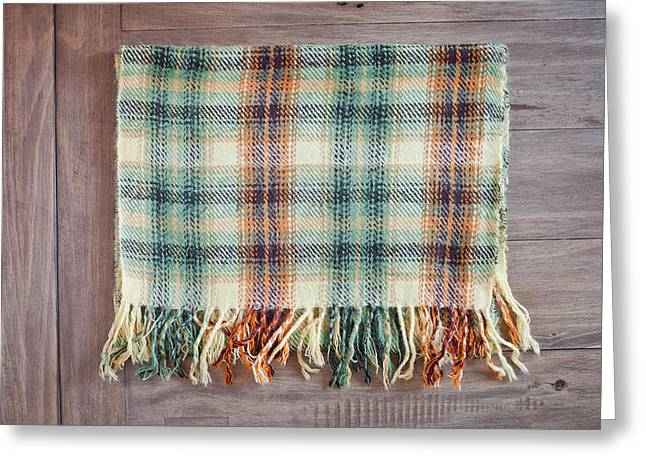 Tartan Scarf Greeting Card by Tom Gowanlock