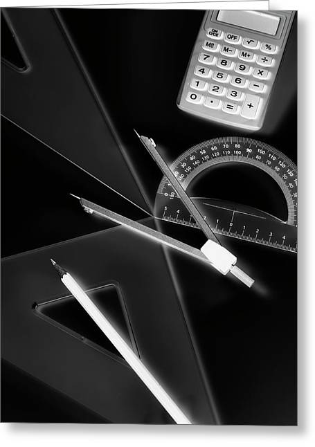 Technical Drawing Equipment Greeting Card by Tek Image