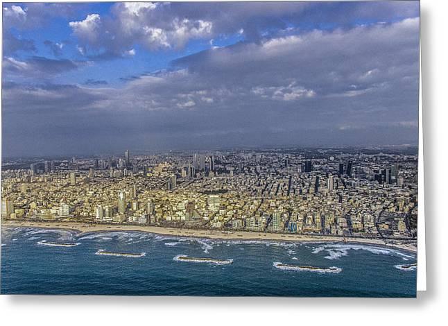 Tel Aviv Shore Line, Tel Aviv Greeting Card