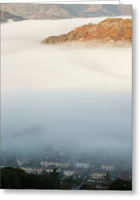 Temperature Inversion Over Ambleside Greeting Card