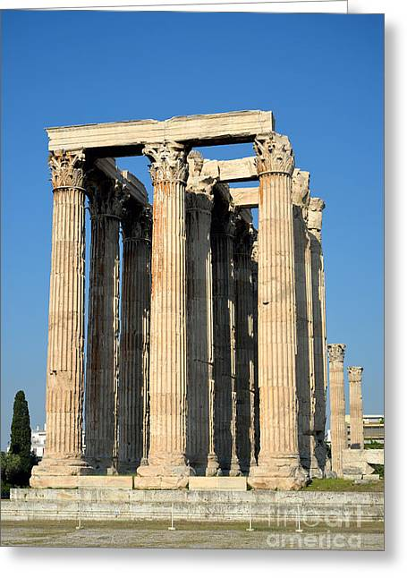 Temple Of Olympian Zeus In Athens Greeting Card by George Atsametakis