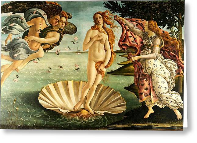 The Birth Of Venus Greeting Card