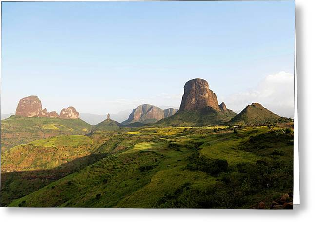 The Buttes Of Mulit Near Semien Greeting Card