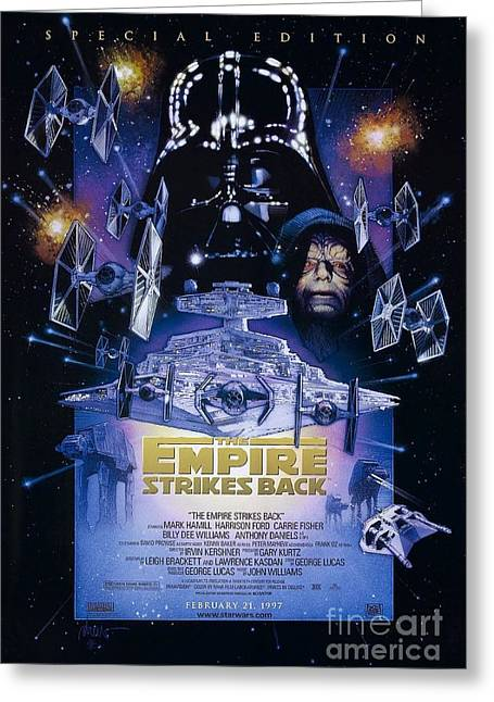 The Empire Strikes Back Greeting Card by Baltzgar