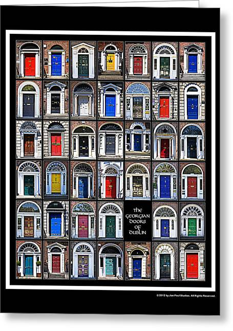 The Georgian Doors Of Dublin Greeting Card